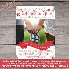 Christmas Card Pregnancy Announcements Merrier Pregnancy