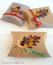 Fall favor boxes& other Last Minute Homemade Thanksgiving Gifts
