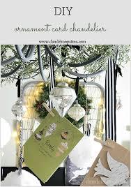 ornament card chandelier via dandelionpatina com