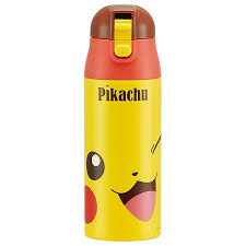 one push stainless steel mug bottle character pocket monster water bottle bottle one push lunch lunch