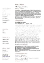 Curriculum Vitae Resume Managing Director Cv Sample Managerial Cvs Curriculum Vitae