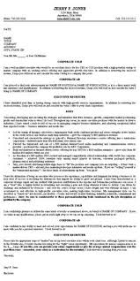 executive cover letter example cold cover letter samples