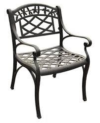 sedona cast aluminum arm chair in