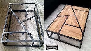 metal and wood furniture. Tube Steel And Wood Coffee Table Metal Furniture T