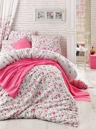 flomar pink single l quilt cover set de 143epf28424 pink white brown