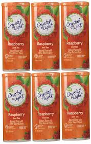 Does Crystal Light Raspberry Iced Tea Have Caffeine Crystal Light Raspberry Tea 12 Quart 1 6 Ounce Canisters