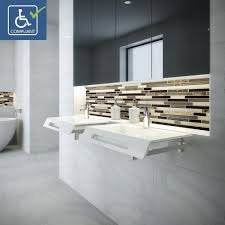the lexine nasira and ellie provide the perfect solution for any ada bathroom in need of modernization made of solid surface with multiple faucet