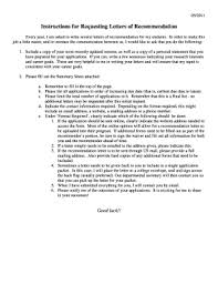 Printable Who To Ask For A Letter Of Recommendation For A Job Edit