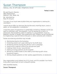 letter for volunteers volunteer cover letter sample