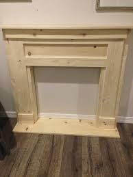 diy faux fireplace mantel