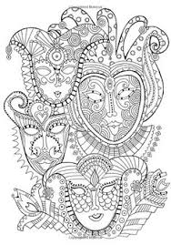 Small Picture Free coloring page coloring mask carnival Coloring page with