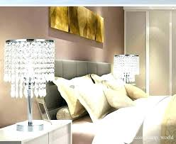 bedside chandelier lamps bedroom side table lamps end chrome round crystal chandelier nightstand lamp led night