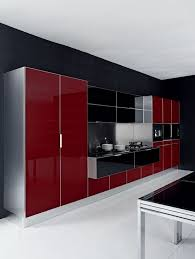 Red And Black Kitchen Red And Black Kitchen Wall Decor Brwon Minimalist Veneer Laminate