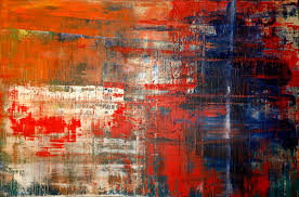 gerhard richter style abstract painting