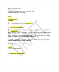 Interview Letters Samples Rejection Letter Sample 10 Free Word Pdf Documents