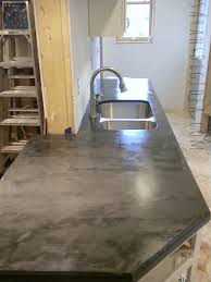 faux crete counters the reveal