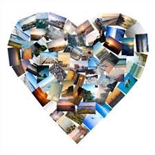 heart collage canvas 60 images