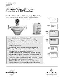 mvd transmitters p 2013 micro motion® series