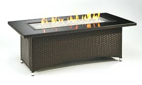 awesome round wicker fire pit startling wicker fire pit coffee table black top balsam base