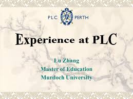 plc education lu zhang master of education murdoch university contents