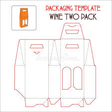 wine packaging template wine two pack packaging template vector stock illustration
