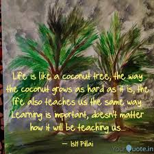 Life Is Like A Coconut Tr Quotes Writings By Hansa Pillai