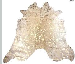cream cowhide rug gold inspirational cow hide stunning premium luxury metallic on colored
