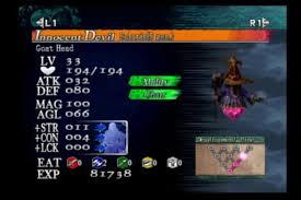 Castlevania Curse Of Darkness I D Statistics