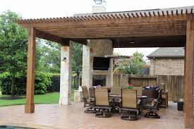 patio covers outdoor kitchens fire features in katy tx outdoor fireplace under covered