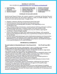 Biotech Resume Examples Biotech Resume Sample Movementapp Io