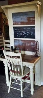 furniture repurposed. use a shelf instead of doorwould be cute little office desk repurposed old door to furniture