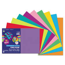 Pacon Tru Ray Assorted Construction Paper 12 X 18 Walmart Com Assorted Colored Paper L