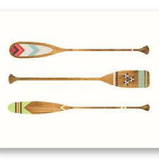 paddle away nature outdoor art print wall decor canoe woo