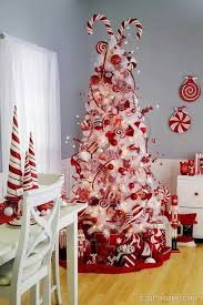 Candy Cane Decorations For Christmas Trees 60 Red and White Christmas Decoration Ideas Christmas tree 3