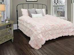 rizzy home plush dreams light pink comforter bed set