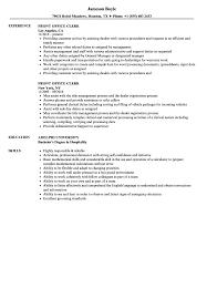 Desk Clerk Resumes Front Office Clerk Resume Samples Velvet Jobs