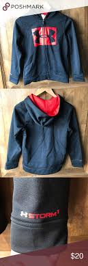 Under Armour Youth Jacket Size Chart Boys Under Armour Zip Hoodie Jacket Worn Once Like New