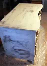 vintage decoupage desk makeover girl in the garage