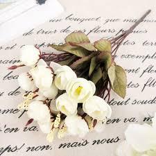 aliexpress com buy 18 heads artificial white camellia silk