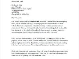 Auditor Cover Letter Examples Sample Resume Cover Letter Example 7