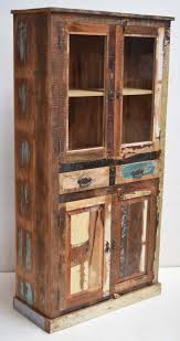 recycled wooden furniture. Recycled Wood Display Cabinet With Drawer Storage. Unique Old Scrap Furniture Wooden T