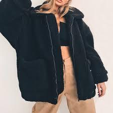 2018 winter new women fur coat fluffy gy faux fur coat fashion thick warm jacket black