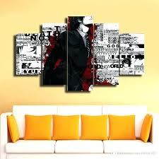 modern canvas wall art landscape wall art framed anime canvas print painting modern canvas wall art