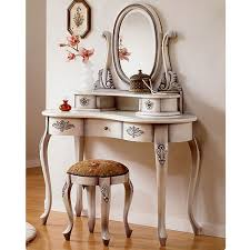 antique makeup vanity table with small drawers