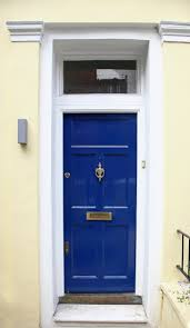 front door colors for beige house21 Cool Blue Front Doors for Residential Homes
