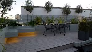 Small Picture grey garden decking composite boards LED lights modern garden