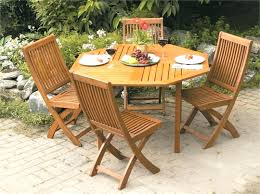 round folding patio table small garden innovative wooden and chairs wood outdoor dining