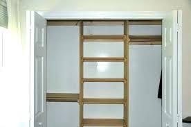 buildg built in closet shelves build plywood hangg