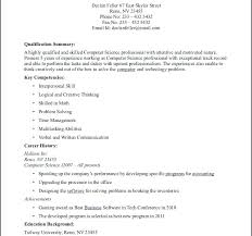 Computer Science Resume Doc Luxury Single Page Template E Format In ...