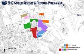 Penn State Football Parking Map Map 2018